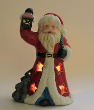 Ceramic Santa Clause Tea Light Holder includes 5 Tea Lights