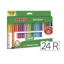 Caja 24 rotuladores de Colores Alpino punta fina  Multicolor - G