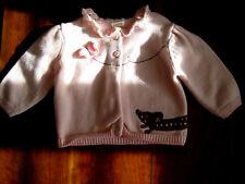 Gymboree Girl Pink Polka Dot Wiener Dog Cotton Cardigan Sweater 6-12 month EUC