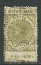 South Australia 1906-12 Queen Victoria 3p olive green (148; SG 298) used
