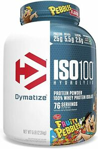 Dymatize ISO 100 Hydrolyzed Whey Protein Powder Isolate 5 lbs All Flavors US