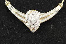"10k Yellow Gold 18"" diamond necklace"