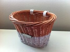 Bicycle Wicker Basket Brown/White Bikes New