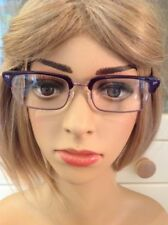 BENCH PURPLE MARBLED LADIES PRESCRIPTION GLASSES FRAMES USED GOOD CONDITION