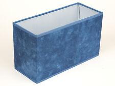 Lampenschirm eckig Tischleuchte Hängelampe blau marmoriert ausgefallen schmal