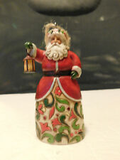 Jim Shore Heartwood Creek Ornament 2009 Santa with Lantern 4014378 Euc