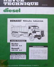 Revue technique DIESEL CAMION RENAULT GBH 280 6X4 BERLIET GBH 280 RTA 109 1981