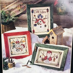 SNOW FOLKS Anne McKinney Snowman Counted Cross Stitch Chart Dimensions #259