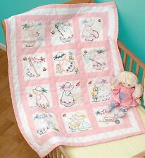 GIRLS QUILT BLOCK SET HAND EMBROIDERY PATTERN, From Jack Dempsey Inc.