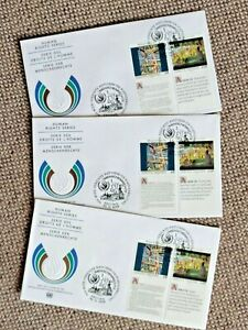 3 tolle FDC 1992 Vereinte Nationen UN - Menschenrechte