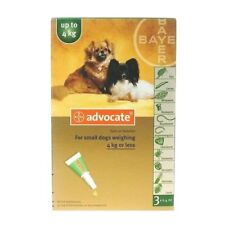 Advocate for  small dog 0-4 Kg 3 pipettes EXP 11/2020