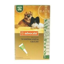 Advocate for  large dog 0-4 Kg 3 pipettes EXP 12/2019