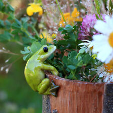 Frog Flower Pot Hugger TO 4283 Miniature Fairy Garden