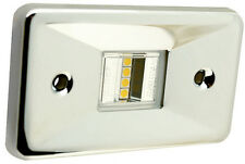 LED Stainless Steel Rectangular Transom Mount Navigation Light for Boats -2 Mile