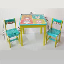 Asiento de Varias Plazas Mesa los Niños 1 Mesa+ 2 Silla Madera Muebles para 17GD