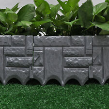 New Listing18 Pcs Garden Fence Lawn Boarder Patio Fence Edge Fencing Panels Landscaping
