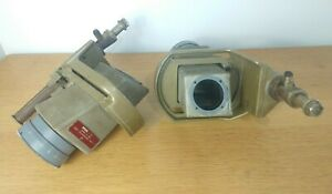 Pair of Vintage Industrial Theatre Film Projection Anamorphic Lens Salvage