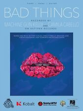 Bad Things Sheet Music Piano Vocal Machine Gun Kelly NEW 000224345