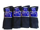 3, 6, or 12 Pairs Diabetic CREW circulatory Socks Health Men's Cotton ALL SIZE