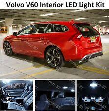 DELUXE VOLVO V60 2010+ LED INTERIOR UPGRADE KIT BULB SET XENON WHITE UK SELLER