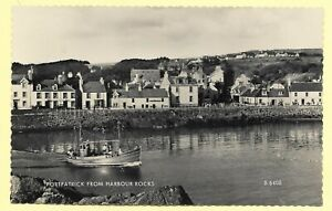 Vintage Real Photo PC, 1966, PORTPATRICK FROM HARBOUR ROCKS.  313E
