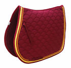 Horse Saddle Pad  English Quilted Contoured All-Purpose Trail  Burgundy 72TS03BG