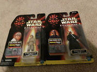 Star Wars Episode 1 Action Figures (Lot of 2) Hasbro 1998 CommTech Darth Maul
