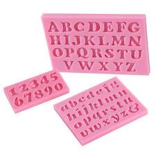 3Stk/Set Letter Number Silikon Fondant Kuchenform Mould Mold Schimmel DIY