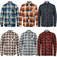 New Mens Tokyo Laundry Cotton Long Sleeve Checked Flannel Shirt Size S-XXL