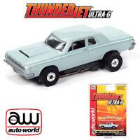 Auto World Thunderjet R32 1964 Dodge 330 Light Blue HO Scale Slot Car