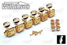 Wilkinson® deluxe WJ-55 machine heads Fender® vintage kluson style guitar gold