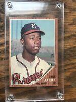 Hank Aaron 1962 Topps Baseball Card #320 Braves HOF