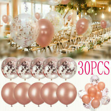 "30Pcs Latex Confetti Balloon Rose Gold 12"" Wedding Birthday Party Xmas Decor Us"