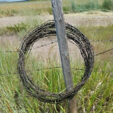 25 FT - Vintage Antique Rusty Barbed Barb Wire Western Art Craft Project Supply