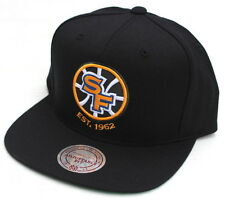 Golden State Warriors Current Wool Black Snap Back Mitchell & Ness SnapBack Hat