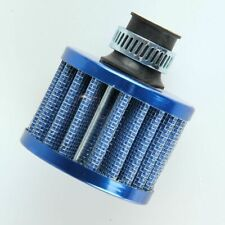 12mm Mini Crankcase Breather Turbo Vent  Intake Pipe Air Filter Clamp Blue