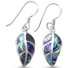 Abalone Leaf .925 Sterling Silver Earrings