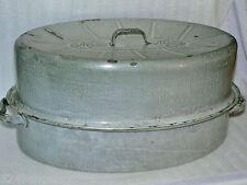 Vintage CLEAN Roaster Nesco Gray Enamel Graniteware Sturdy Pan Baking Cooking