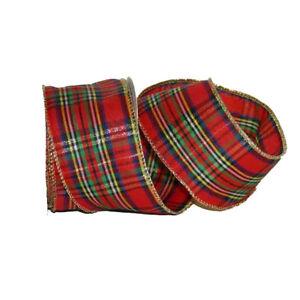 Christmas McKean Tartan Organza Fabric Ribbon - 9m Roll
