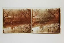 Inondation Paris France Plaque stereo 1925