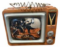 "Vintage 3 Stooges 2000 Vandor Collectible Tins Lunchbox 7.75""L x 5.75""T x 3.25"""