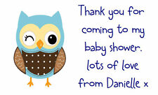 42 Large Personalised Labels Address //Shower Baby Face 229 baby sprinkle