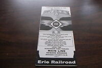 OCTOBER 1959 ERIE RAILROAD FORM 7 MAIN LINE NEWARK BRANCH PUBLIC TIMETABLE