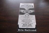OCTOBER 1959 ERIE RAILROAD FORM 7 MAIN LINE NEWARK BRANCH PUBLIC TIMETABLE