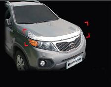 Chrome Front Hood Garnish 3P 1Set For 10 11 12 Kia Sorento R