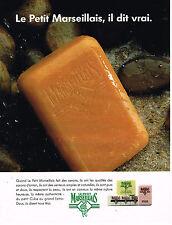PUBLICITE ADVERTISING 074  1992   LE PETIT MARSEILLAIS   savon
