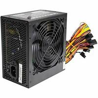 Black 600W ATX PC Power Supply PSU With 12CM Quiet Fan And PCI-E 6+2-Pin / 6 x