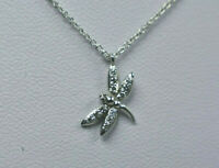 NEW Tiffany & Co 18K White Gold Diamond Dragonfly Necklace w/ Proof of Auth.