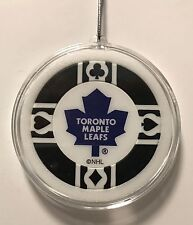Toronto Maple Leafs Poker Chip Christmas Tree Ornament Holiday NHL Hockey Canada