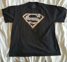 Superman Diamonds Short Sleeve T Shirt Large Black Super Hero Justice League